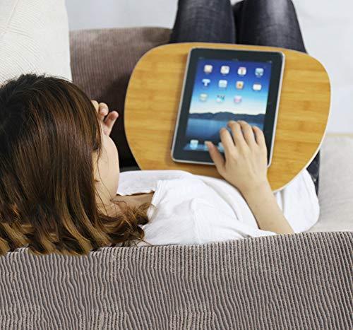 Cora Stands Tragbare Knietablett Laptop-Schoßtablett mit Kissen Laptopkissen Betttablett mit Tragegriff, Monitorstäner Laptop Ständer 40x30x10cm