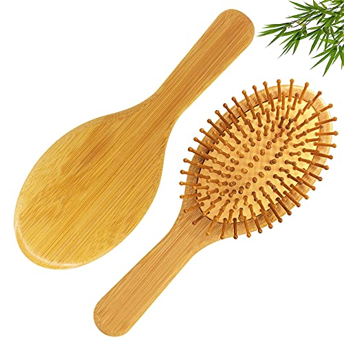 Cepillo de pelo de bambú natural Masaje Cepillo de pelo antiestático para hombres y mujeres