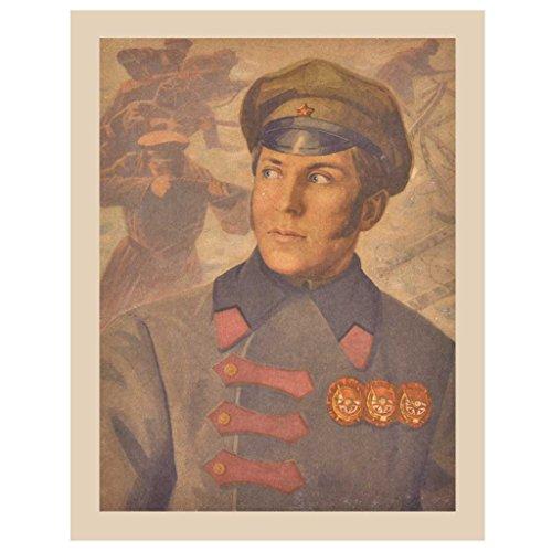 Indien étagère Papier Fait Main Jeune Officier Allemand en Uniforme des Impressions/Lithographs/décoration Murale Pt-250