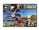 City Souvenir Shop Foto-Magnet Post aus Düsseldorf, Blaue