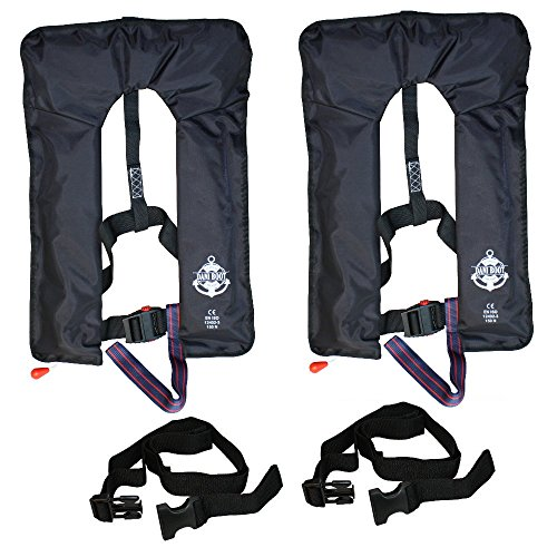 2 * Vollautomatische Rettungsweste mit Schrittgurt und Bergeschlaufe