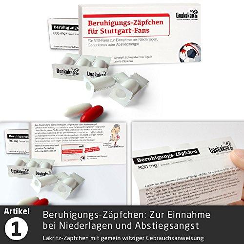 Die Kleine Therapie für Stuttgart-Fans | 2X süße Saison-Schmerzmittel | Witzige Geschenke & Fanartikel by Ligakakao.de | Besser als Kaffee-Tasse, Kaffeepott, Becher oder Fahne - 2