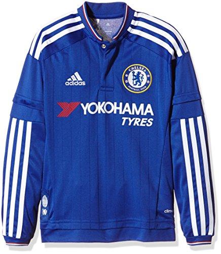 Adidas S11682. 164, Camiseta de Manga Larga Para Niños, Azul (Chelsea Blue/White/Power Red), 7-8 años (talla del fabricante: 128 cm)