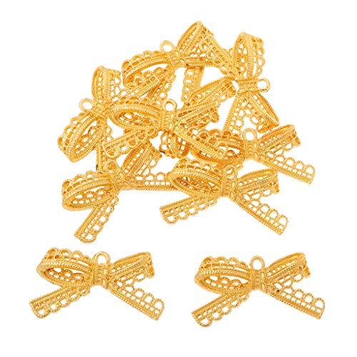 B Baosity 10 Unids Joyería de Adorno de Manualidades de Costura para Prendas de Vestir, Bolsos, Disfraces y Decoraciones Caseras - Oro