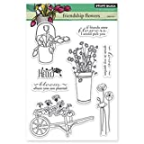 Penny Black 30-223 Friendship Flowers Sheet Clear Stamp, 5 by 7.5-Inch