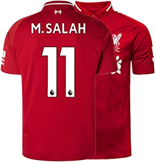 Men's M. Salah Jersey 11 Liverpool Adult 2018/19 Home Soccer Mohamed