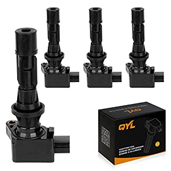 QYL Pack of 4Pcs Ignition Coils Replacement for Mazda 3 6 2006-2013 CX-7 2007-2012 Mx-5 Miata 2006-2015#UF540 L3G218100A C1683 5C1740