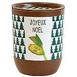 Feel Green Message Bean-Joyeux Noël Idée Cadeau (100% Biodégradable), Grow-Your-Own/Kit Prêt-à-Pousser, Des Voeux Qui Poussent, Le Pot Écologique 9 x 7 cm cm, Produit En Autriche