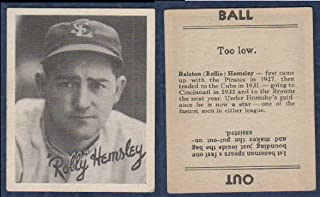 1936 Goudey Regular (Baseball) Card# 17 rolly hemsley of the St. Louis Browns Ex Condition
