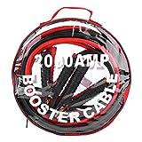 KIMISS 1 Paire de Boosters de Voiture 12V Câbles de Saut de Batterie D'urgence(4M/2000A)