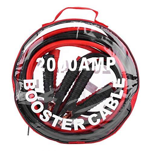Cables de batería de puente, cables de salto de batería de emergencia de refuerzo de servicio pesado con abrazadera(4M/2000A)