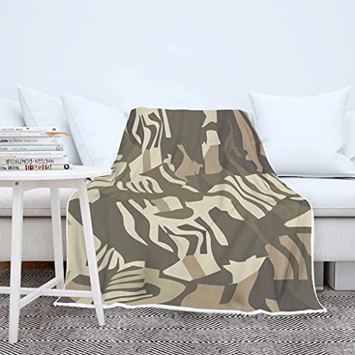 AXGM Jungen Mädchen Decke Kuscheldecke Wohndecke Tagesdecke Zebra Streifen Tarnung 3D Print TV Decke Extrem Warm Wohnzimmer Decke White 130x150cm