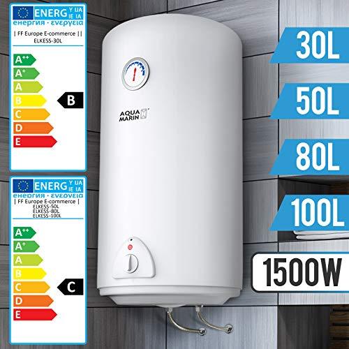 Termo Electrico - 30, 50, 80, 100 Litros, 1500W, Termostato - Agua Caliente, Calentador de Agua, Acumulador