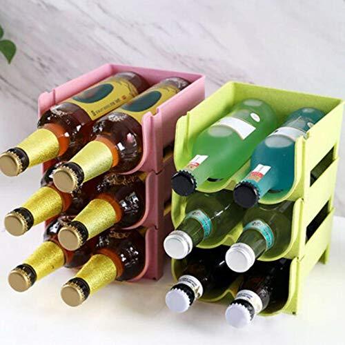 3 piezas bloques de construcción caja de bebidas 2 ranuras cocina refrigerador organizador cerveza botella de vino estante de almacenamiento soporte de vino ahorro de espacio