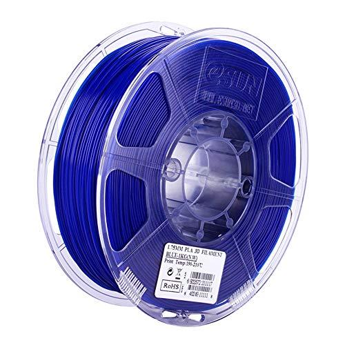 PLA Filament 1.75mm, 3D Printer Filament 1kg (2.2lb), for 3D Printers and 3D Pens, Dimensional Accuracy +/- 0.03mm-Blue