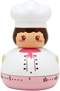 ANTEHOME LZQ814 Mechanical Cooking Timer, Cartoon Chef Figure, Classic Kitchen Gadget with 60 Minute Countdown