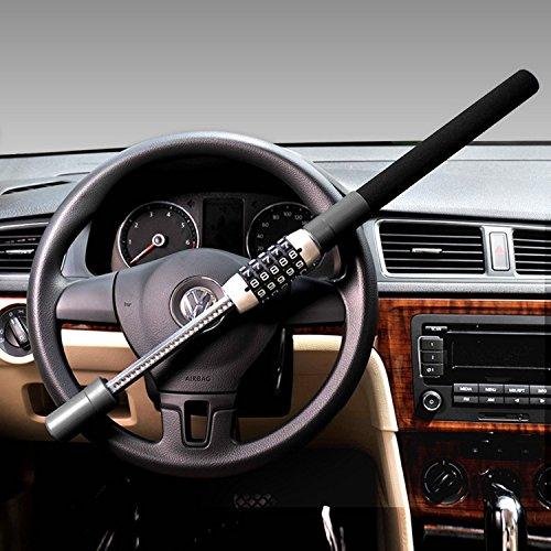 Canna Blocco rafforzata, Serratura di volante, sicurezza auto, Dispositivo di blocco per volante//passeggio
