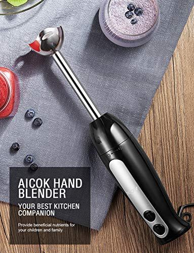 Aicok-Handmixer-2-in-1-Stab-Mixer-mit-700-ml-BPA-freiem-Becher-304-Edelstahlklingen-ergonomischer-Griff-2-Geschwindigkeiten-Handmixer-fuer-Babynahrung-Saefte-Saucen-und-Suppe-400-W