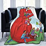 Clifford The Big Red Dog Throw Blanket Flannel Summer Air Conditioner Bedding Lightweight Soft All Season Sofa Bed Couch Blankets 60'X50'