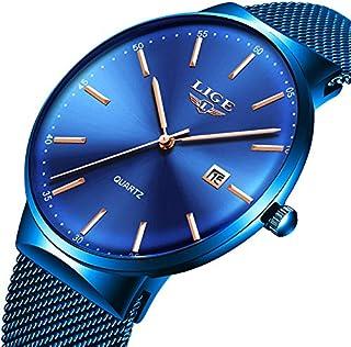 Reloj de pulsera para hombre de cuarzo analógico, deportivo, resistente al agua, clásico, de acero inoxidable, de lujo, marca LIGE, cronógrafo de negocios...