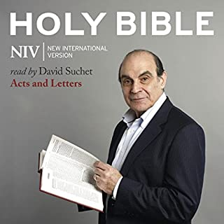 David Suchet Audio Bible - New International Version, NIV: (08) Acts and Letters audiobook cover art