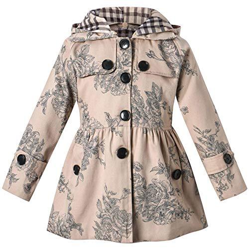 BINPAW - Abrigo con capucha para niña -  -  5-6 años