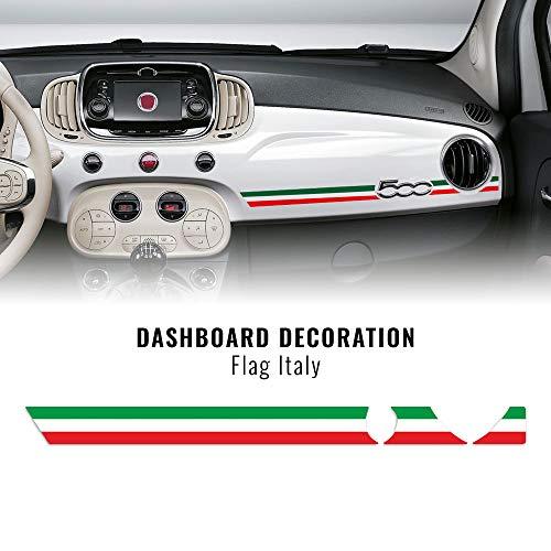 Quattroerre Stripes Strisce Adesive per Cruscotto Fiat 500 Abarth Tricolore Italia