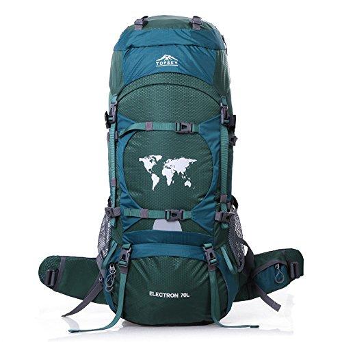 Topsky arrampicata Sport-Borsa-zaino da escursionismo, montagna impermeabile da Trekking, modello zaino, con copertura impermeabile, per estensione da 80)
