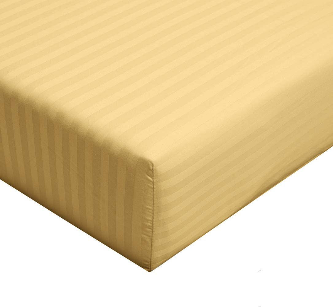 Damask Striped 300-Thread-Count 100-Percent Staple 4 years Max 81% OFF warranty Long Cotton