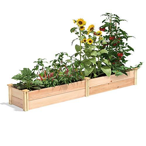 Greenes Fence Premium Cedar Raised Garden Bed, 16' x 96' x 11'