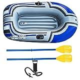 Runfon Barco Inflable, PVC Inflable Marina Barco colchón de Aire Heavy Duty 1 Persona Bote neumático Bote del Barco de Pesca