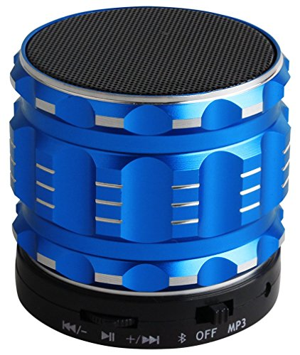 Aduro AMPLIFY Mini BSP20 Wireless Stereo Sound Bluetooth Handheld Speaker Rugged Build (Blue)