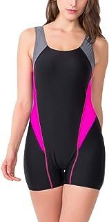 Foucome フィットネス水着 レディース 練習用 スイムウェア 水泳 ノースリーブ
