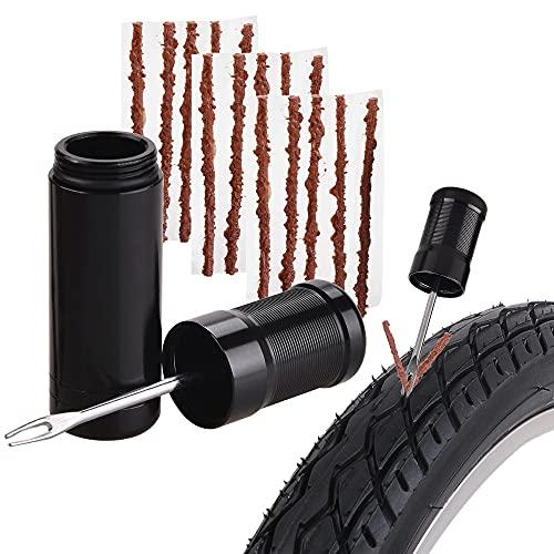 Kit de herramientas de reparación de neumáticos sin cámara para bicicletas Perforación de neumáticos para reparación de servicio de sellador de pegamento urgente Reparación, reparación de pinchazos