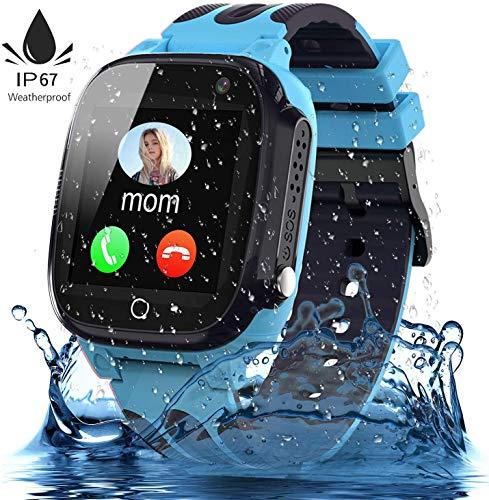 Jsbaby Kids smartwatch Waterproof with LBS/GPS Tracker Children Smartwatches Phone 3-12 SOS Camera Game for Boys Girls Birthday