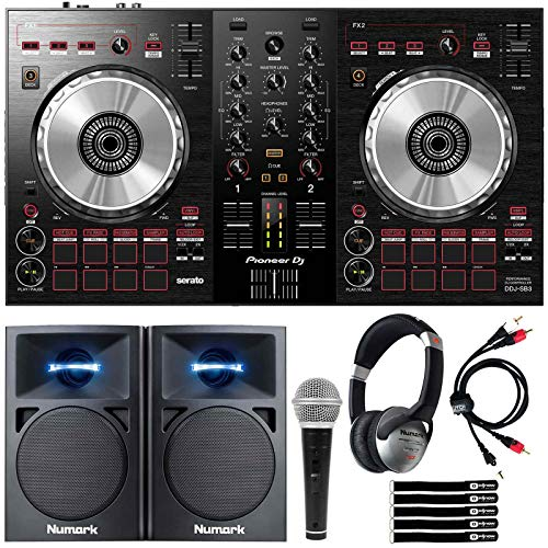Pioneer DDJ-SB3 Serato DJ Controller Starter Package w/Speakers + Headphones