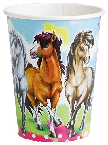 amscan International - Vasos para Fiestas (8 Unidades), diseño de Caballos