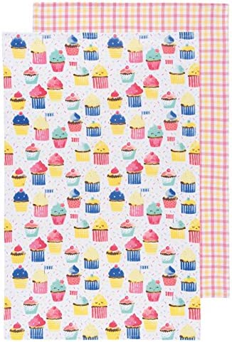 Now Designs Kitchen Dishtowels Set of Two Cupcakes product image