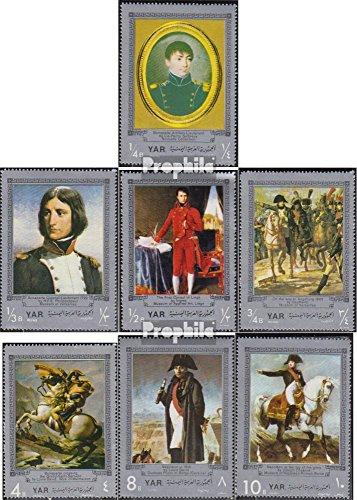 Prophila Collection Yemen del Norte (Arabes repúclica.) 961-967 (Completa.edición.) 1969 napoleón I. Bonaparte (Sellos para los coleccionistas) Caballos