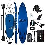 Soopotay Aufblasbares Standup Paddleboard, aufblasbares SUP Board Stand Up, iSUP Paket mit allem Zubehör (Marineblau, 30,6 x 81,3 x 15,2 cm) - Best Reviews Guide
