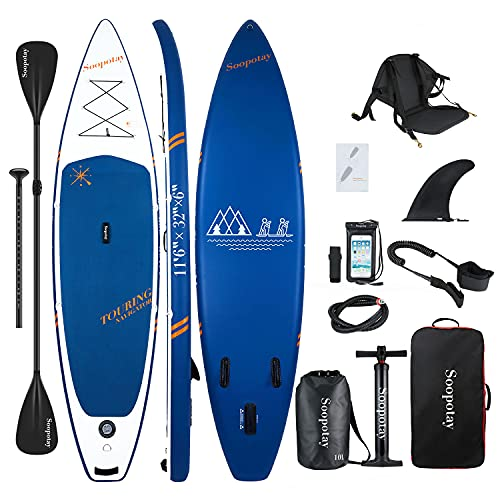 Inflatable SUP Stand Up Paddle Board, 11'6'' Touring SUP Board, Inflatable SUP Board, iSUP Board Package with All Accessories, 11'6'' x 32'' x 6''