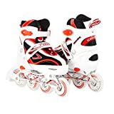 Kids Adjustable Inline Skates for Girls and Boys Durable Outdoor Roller Blades Illuminating