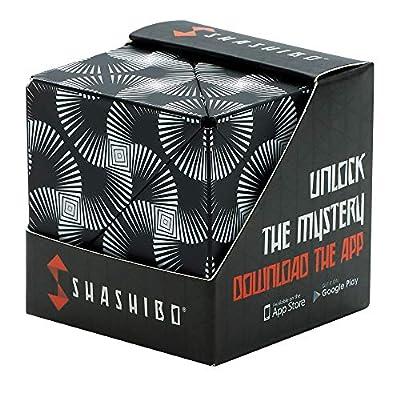 SHASHIBO - The Shape Shifting Box (36 Rare Earth Magnets) STEM/STEAM Fidget Geometric 3D Magnetic Transforming Magnetic Box Magic Cube - Black & White from FUN IN MOTION TOYS