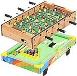 YLJYJ 2 en 1 futbolín futbolín/Juego de Mesa de Billar Mini Juego portátil Multifuncional futbolín Entre Padres e Hijos (Deportes)