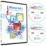 Winter Backgrounds-Christmas Vector Clip Art Images-Urban/Abstract Background Designs-Flower/Floral Clipart Graphics Illustration DVD