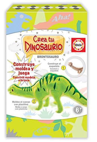 Educa Borrás-CREA y Moldea Tu Brontosaurio Actividades Creativas, Color Variado...