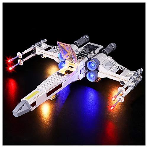 K99 Iluminación de Bloques de construcción LED, Compatible con Lego 75301 Iluminación Star Wars Luke Skywalker X-Wing Fighter, DIY Mejora de la iluminación de Control Remoto (sin incluir Bloques),A