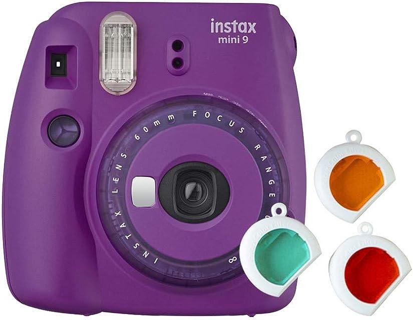 Fujifilm Instax Mini 9 - Cámara instantanea solo cámara Morado