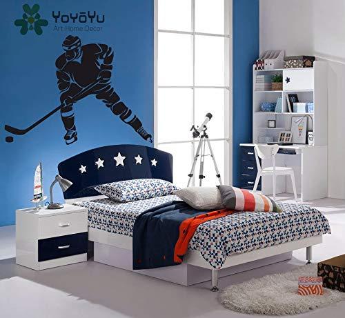 Fototapete Schlafzimmer Eishockeyspieler Eishockey Sport Vinyl Tapete Aufkleber abnehmbare Wohnkultur