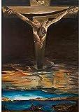 LDTSWES Puzzle Salvador Dali Adultos Rompecabezas, Cristo de San Juan de la Cruz Surrealista Religioso Rompecabezas de Madera, para Adultos Niños Juego Rompecabezas 1000 Piezas